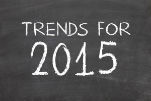 Trends 2015 Written in Chalk on a Chalkboard