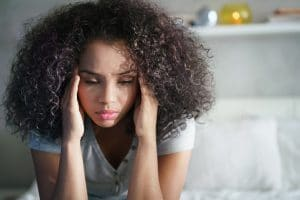 example of woman with headache