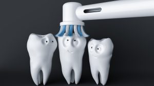 houston dentist brushing teeth